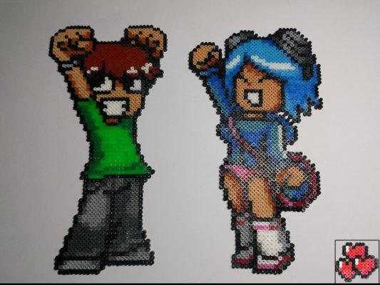 Scott-Pilgrim-Ramona-Flowers-Pixel-Art-Comics-HD