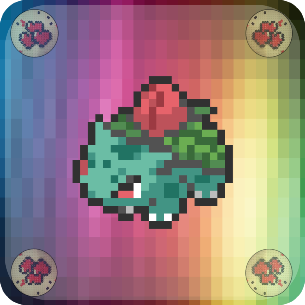 pixel-pixelart-pixelcraft-pixelbeads-perlers-perlerbeads-perlerart-beads-beadspearls-hama-hamabeads-hamasprites-hamacrafts-hamaperler-artkal-artkalbeads-fusebeads-8bit-retrogaming-gaming-perlercrafts-homemade-handmade-sprite-design-tutoriel-pattern-pokemon-fusion-pokemon-herbizarre-ivysaur