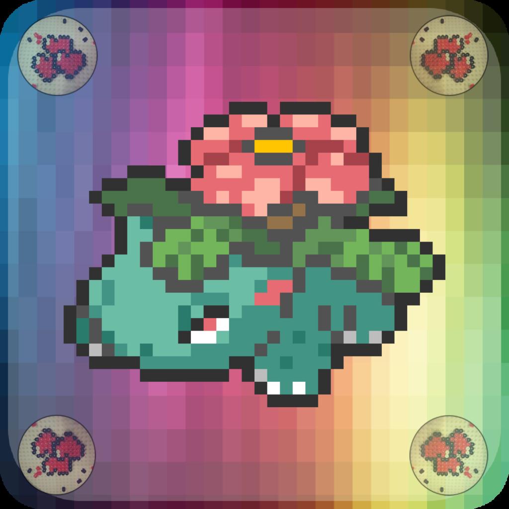 pixel-pixelart-pixelcraft-pixelbeads-perlers-perlerbeads-perlerart-beads-beadspearls-hama-hamabeads-hamasprites-hamacrafts-hamaperler-artkal-artkalbeads-fusebeads-8bit-retrogaming-gaming-perlercrafts-homemade-handmade-sprite-design-tutoriel-pattern-pokemon-fusion-pokemon-florizarre-venusaur