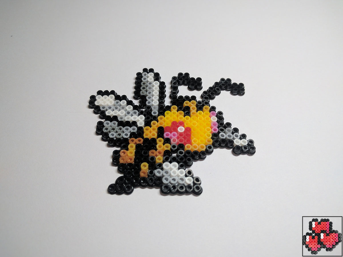 pixel-pixelart-pixelcraft-pixelbeads-perlers-perlerbeads-perlerart-beads-beadspearls-hama-hamabeads-hamasprites-hamacrafts-hamaperler-artkal-artkalbeads-fusebeads-8bit-retrogaming-gaming-perlercrafts-homemade-handmade-sprite-design-tutoriel-pattern-pokemon-fusion-pokemon-photo-dardagnan-beedrill