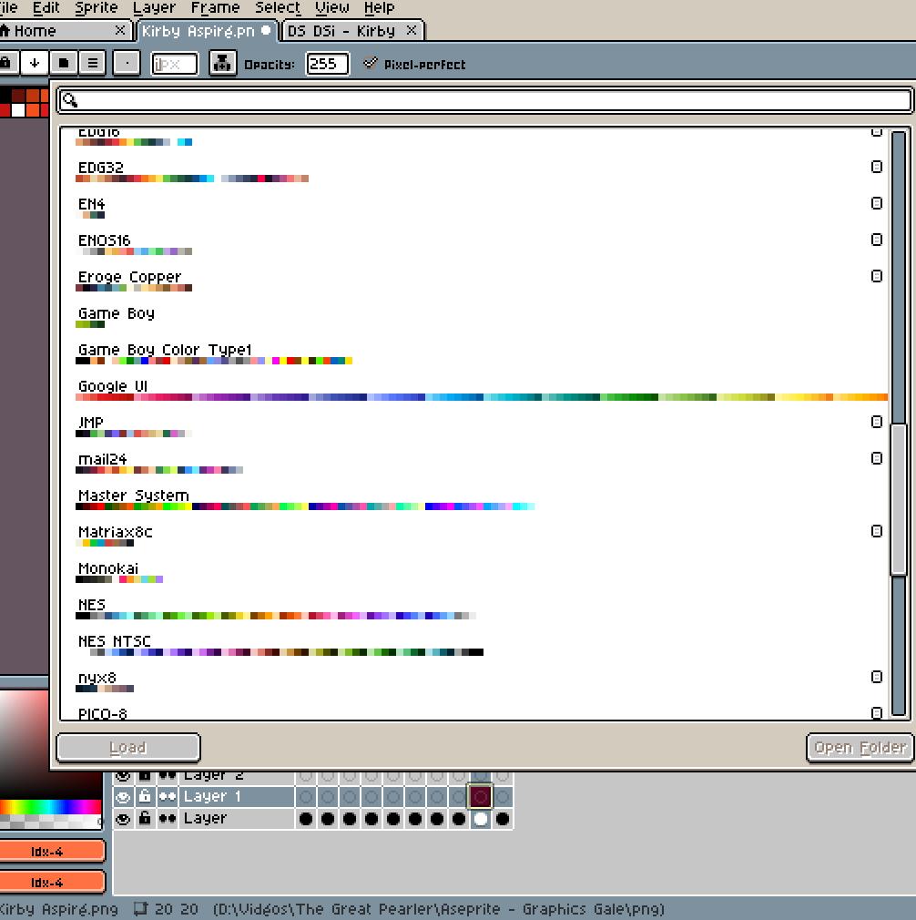 aseprite-pixel-pixelart-pixelcraft-pixelbeads-perlers-perlerbeads-perlerart-beads-beadspearls-hama-hamabeads-hamasprites-hamacrafts-hamaperler-artkal-artkalbeads-fusebeads-8bit-retrogaming-gaming-perlercrafts-homemade-handmade-sprite-design-tutoriel-pattern-great-pearler-layer-pokemon-palette